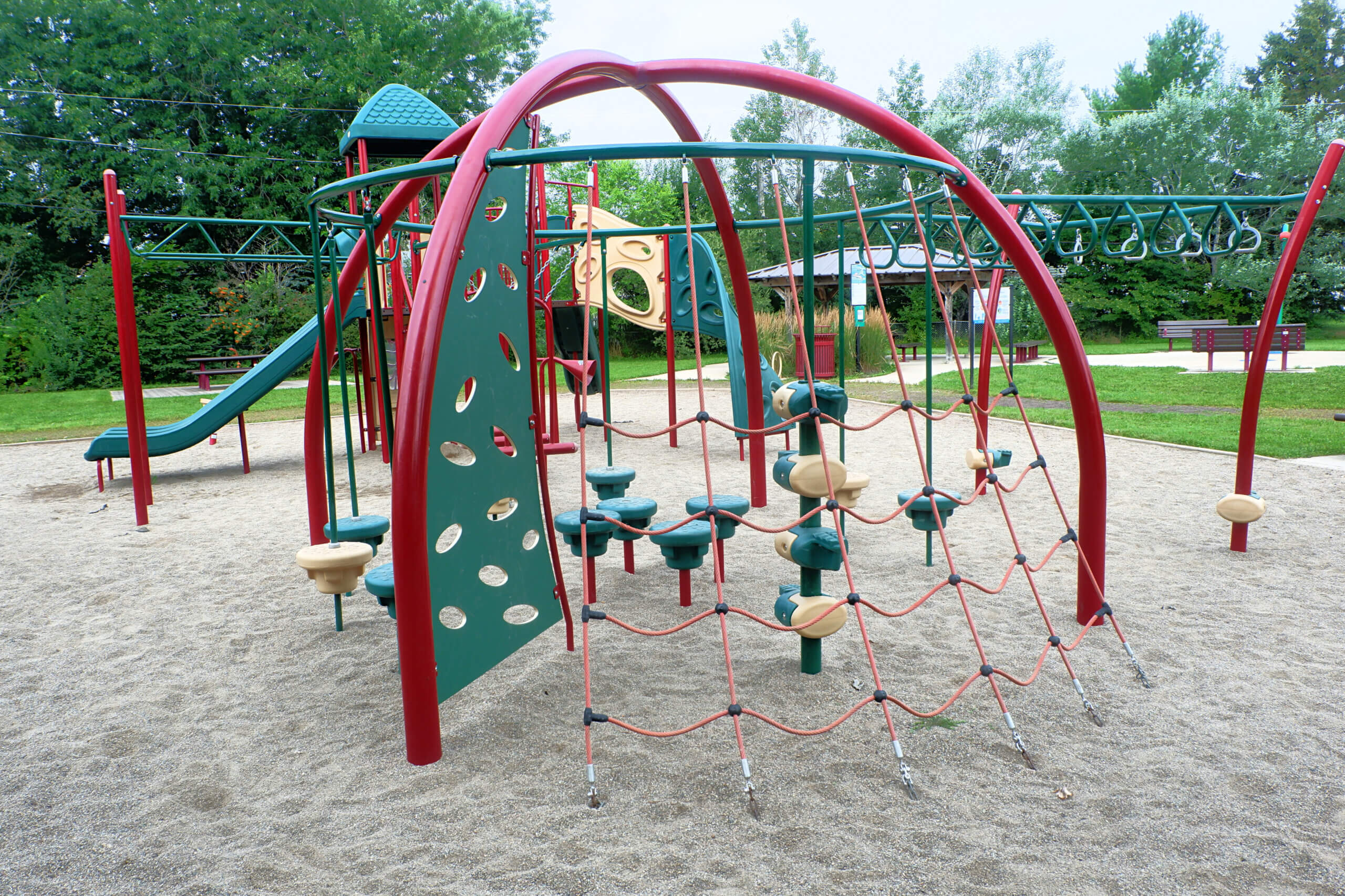 sunny acres park playground moncton pickle planet climbing structures older kids fun