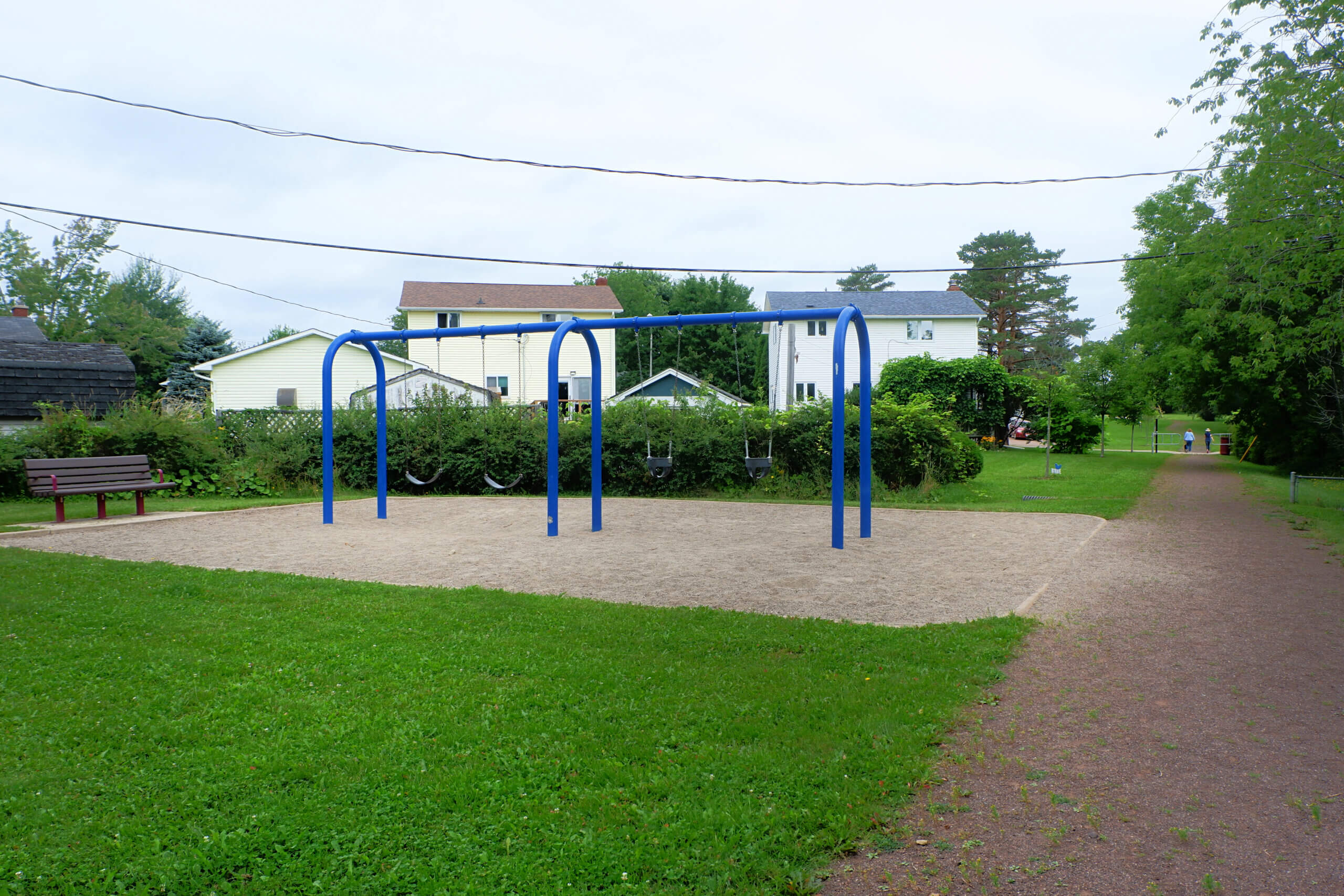 sunny acres park playground moncton pickle planet swings