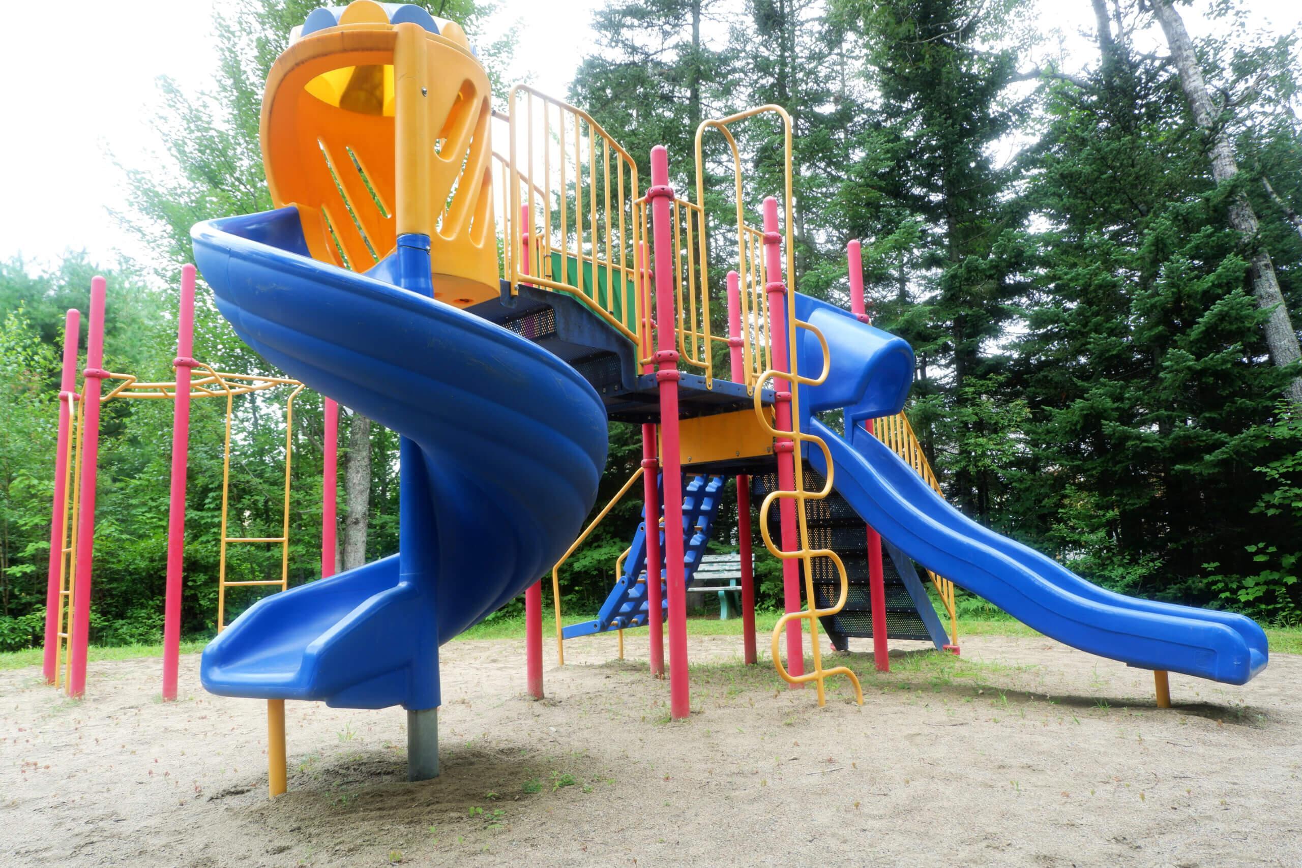 camelot estates playground park pickle planet moncton slides