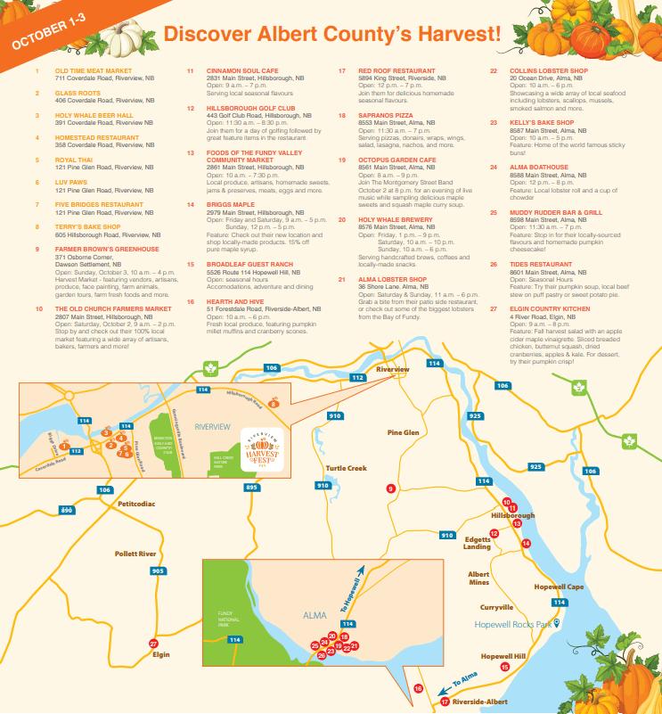 harvest fest riverview map places to eat