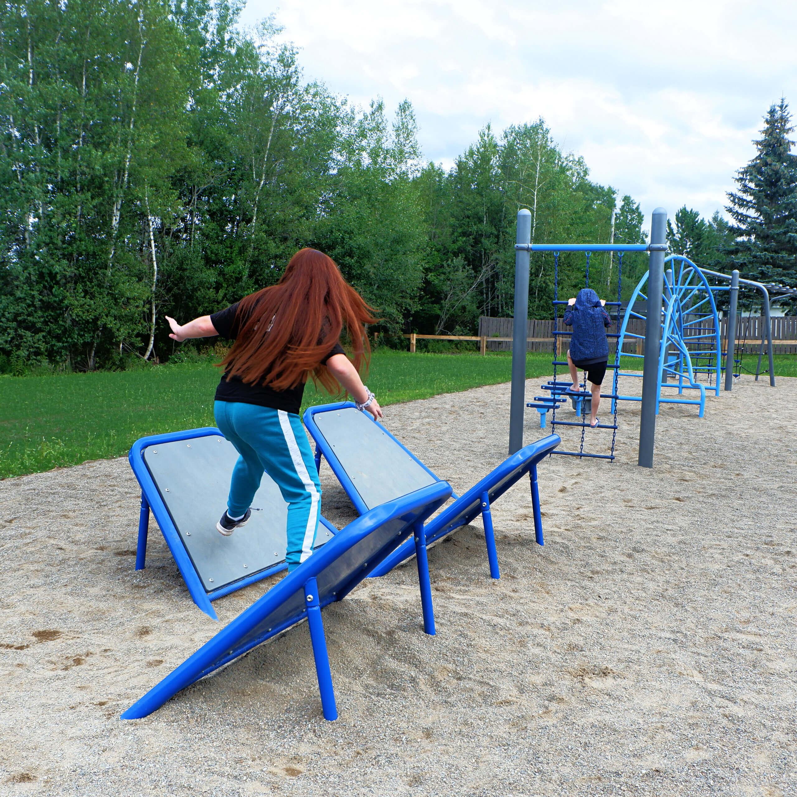 riverview parkour pump track pickle planet moncton playground course kids
