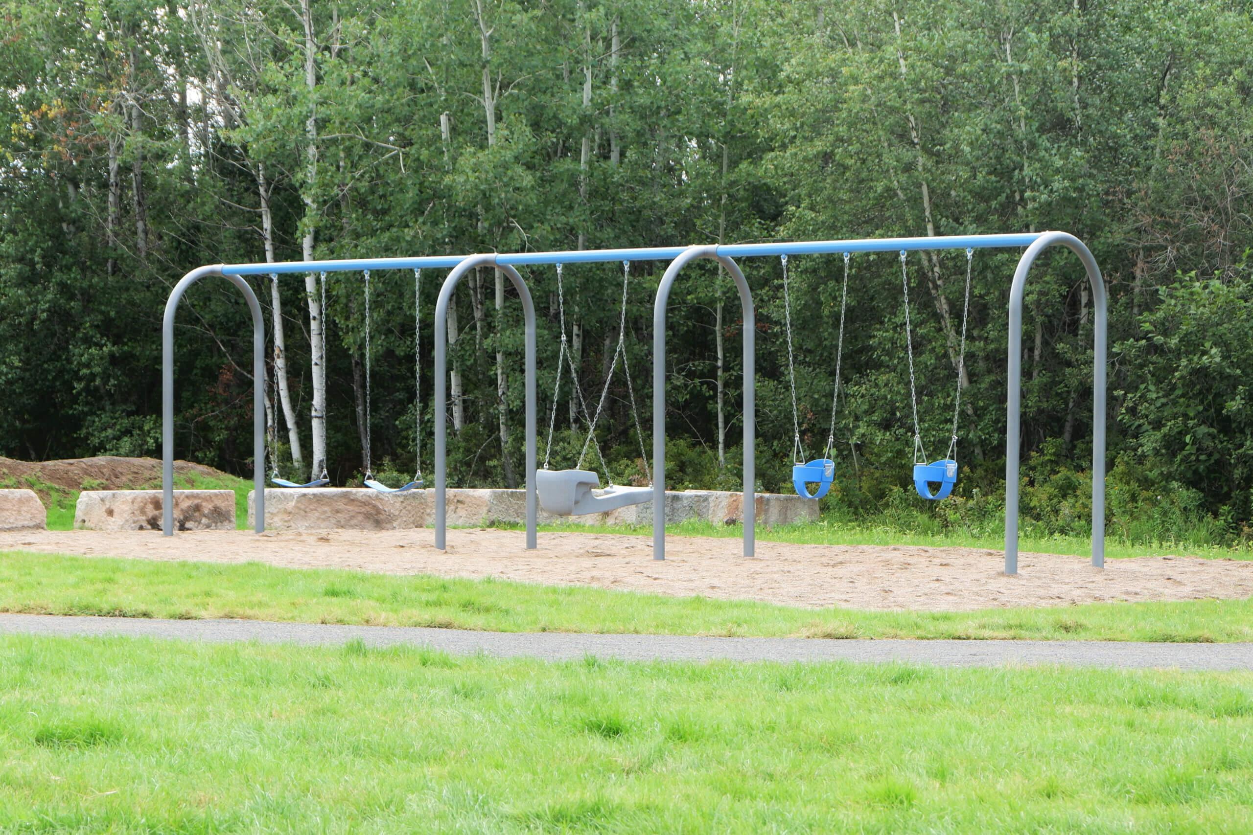 riverview parkour pump track pickle planet moncton playground swings